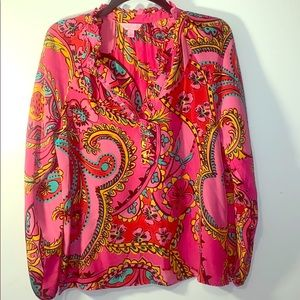 Classic Pink Lily Pulitzer Blouse.